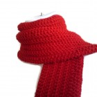 Pure Wool Solid Red Scarf