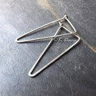 Silver Triangle Hoop Earrings Large